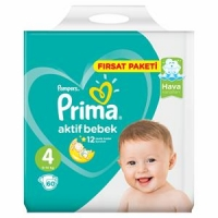 پوشک پریما پمپرز ترک سایز 4+ بسته 54 عددی  prima pampers