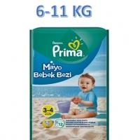 پوشک استخری ( ضد آب ) پریما سایز 3-4 بسته 12 عددی PRIMA pampers swim diapers